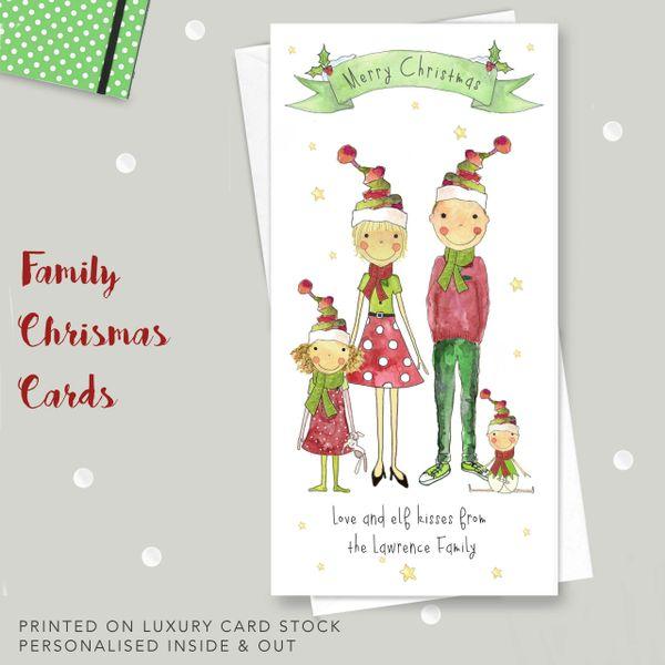 amazing family elf christmas cards - Elf Christmas Card