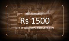 Gift Voucher of Rs 1500 for Name plate by NameplateWorld