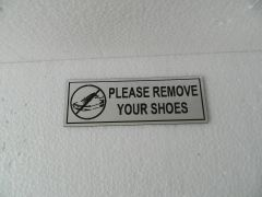 NPW2028 Remove Your Shoes Corporate Signage