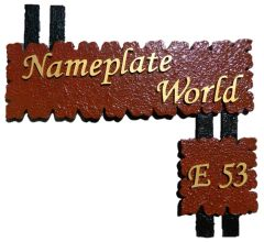 NPW1074: Brown & Black Name Plate for home Nameplate by NameplateWorld