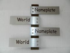 NPW2016_Silver Finish Four Name Nameplate for home by NameplateWorld