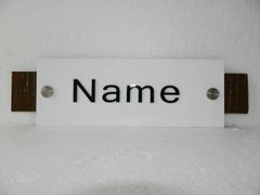 NPW2015_White Rectangle Nameplate for home by NameplateWorld