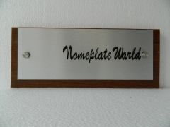 NPW2008_Executive Nameplate With Wooden Base_Rectangle