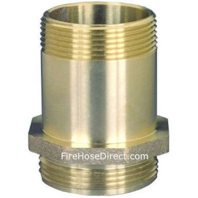 BRASS NIPPLE FOR FIRE HOSE CABINET 1.5 MALE NPT X 1.5 MALE NST