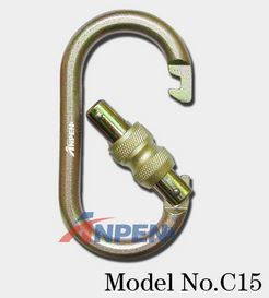 Anpen C15 Manual Screwgate Carabiner Steel