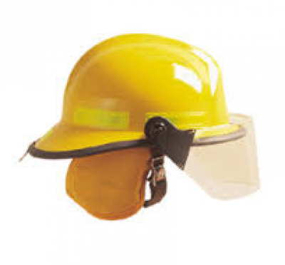 Pacific Fire Helmet F6 Series NFPA Daisy Yellow OTEP V3, Easi On/Off Base Rear Hanger Metal EOB EP FS