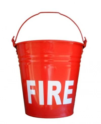 Bucket Metal Red 7 liters water capacity Fire Bucket