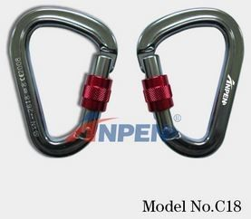 C18 Manual Screwgate Carabiner Aluminum