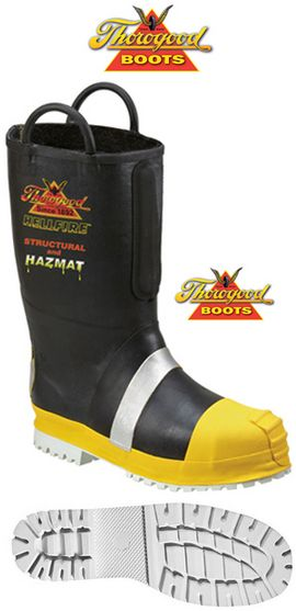 Thorogood Fire Boots 807-6003 Rubber Insulated EH Felt Boots Size 8