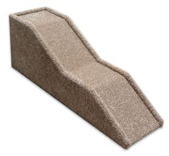 """38cm / 15"""" High Handmade Carpeted Wood Pet Ramp for Your Dog or Cat with Double Landing"""