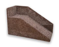 """30cm / 12"""" High Handmade Carpeted Wood Pet Ramp with High Sides"""