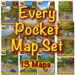 All 13 Motorcycle Ride Pocket Maps