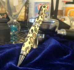 Handmade - Coffee and Cream Rollerball Pen