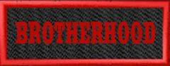 BROTHERHOOD Name Patch