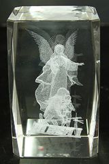 AIE LASER CUT CRYSTAL GUARDIAN ANGEL