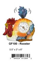 GF100 ROOSTER CLOCK