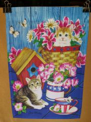 AIE PATRIOTIC KITTENS GARDEN FLAG