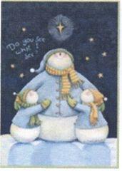 """Snow men Flag for Winter 28""""x40"""""""
