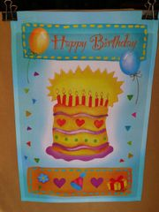 AIE HAPPY BIRTHDAY GARDEN FLAG