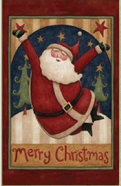 santa for christmas house flag 28x40