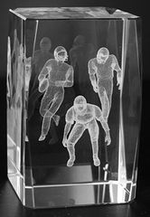 AIE LASER CUT CRYSTAL FOOTBALL PLAYER
