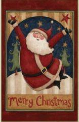 "Santa for Christmas Garden Flag 12""x18"""