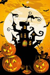 "Devil Castle Flag for Halloween 12""x18"""