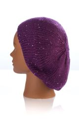 Knit Mini Sequin Snood-Plum (AT12PLU)