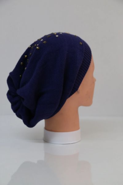 Blue Finished Beanie (AT07BLU)
