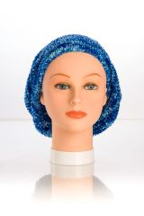 Chenille Shadow LINED Snood-Cobalt (AT05CBL)