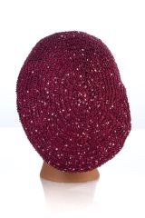 Small Sequin Snood-Plum (AT02PLL)