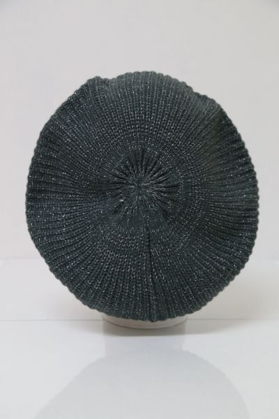 Knit Snood-Grey with Silver Streaks (AT21GYU)
