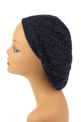 Ultra Lightweight Snood - Navy with Multi Lurex(AT22NVL-ML)