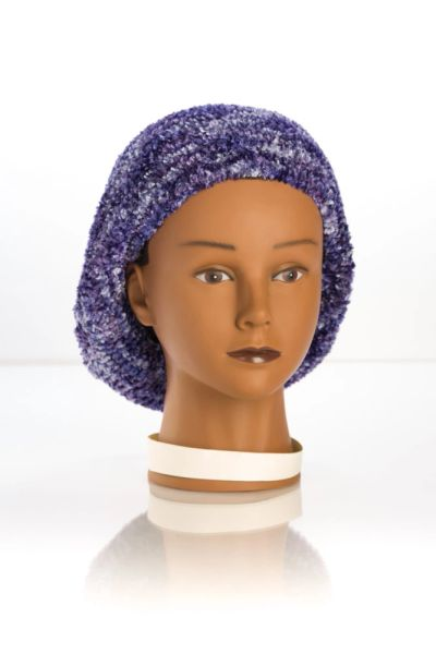 Chenille Shadow LINED Snood-Navy (AT05NVL)
