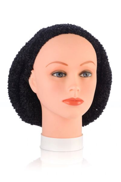 Chenille LINED Snood-Black (AT04BKL)