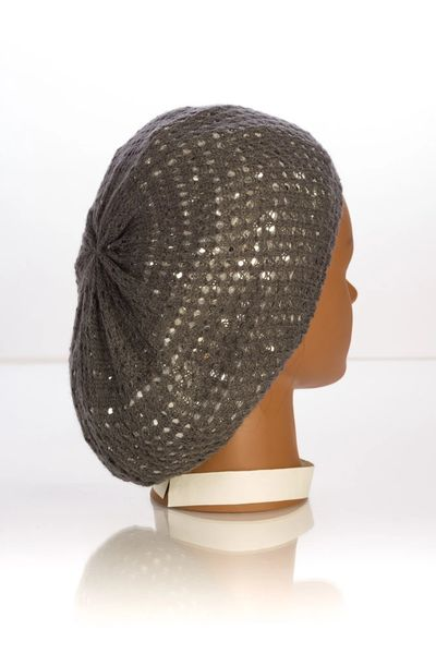 Metallic Knit Snood-Grey with Silver Lining (AT10GSL)