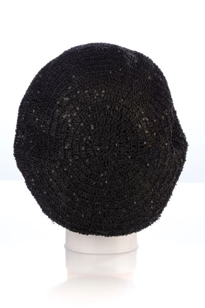 Small Sequin Snood-Black (AT02BKL)