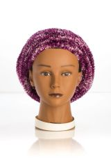 Chenille Shadow LINED Snood-Plum (AT05PLL)