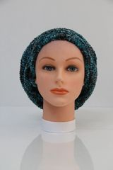Chenille Shadow LINED Snood-Grey & Teal (AT05GTL)