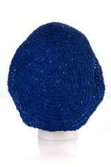 Small Sequin Snood-Cobalt (AT02CBL)
