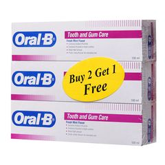 Oral-B Tooth And Gum Care Fresh Mint Toothpaste Triple Pack 3 x 100 ml