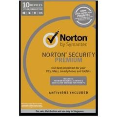 NORTON SECURITY PREMIUM 3.0 25GB AP 1 USER 10 DEVICES 12MTH