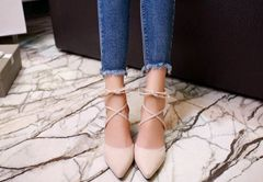 Pretty Wedding Shoes Pointed Bandage Pumps