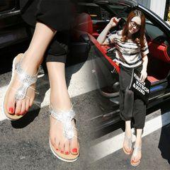 Simple Diamond Casual Flat Sandal