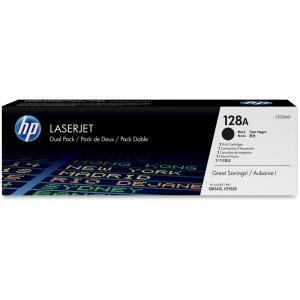 HP 128A BLACK TWIN-PACK LASERJET TONER CARTRIDGE CE320AD