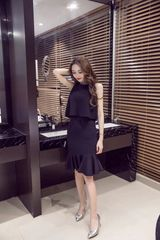 Two Piece Sets Sleeveless Top With Wrap Skirt