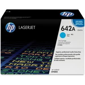 HP 642A CYAN LASERJET TONER CARTRIDGE CB401A