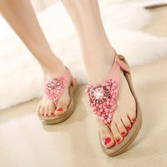 Diamond Flower Casual Flat Sandal