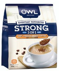 Owl 3IN1 Strong 100% Fd Coffee 25X20g
