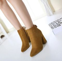 Hot Sale Pointed Toe Chunky Ankle